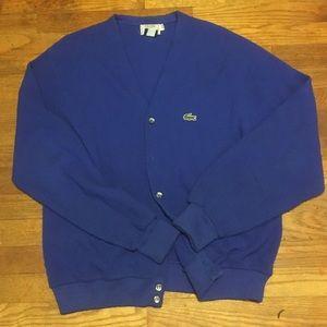 Vintage Lacoste Izod Sweater Cardigan